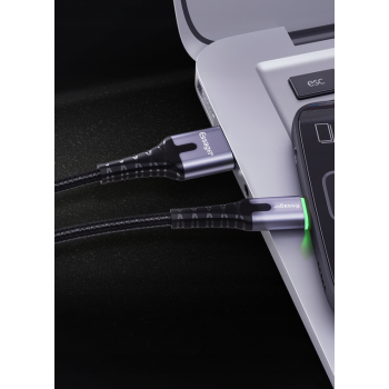 Kabel micro USB ESSAGER 2.4A QC 3.0 2m LED